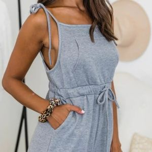 Relaxed Heather Grey Jumpsuit